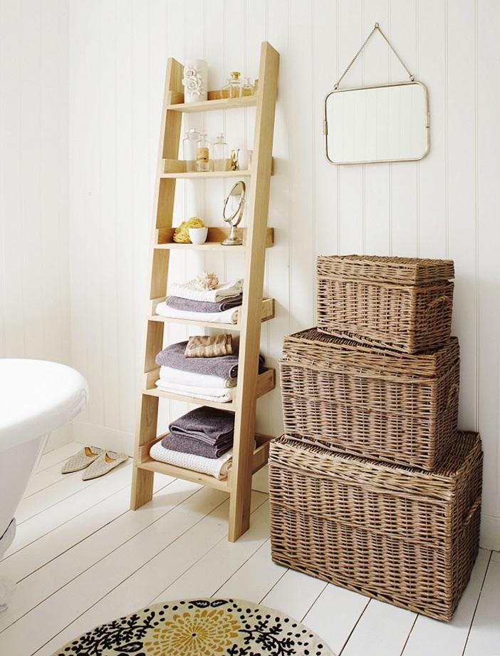 Những chiếc thang sẽ làm cho phòng tắm của bạn trở nên xinh xắn hơn rất nhiều