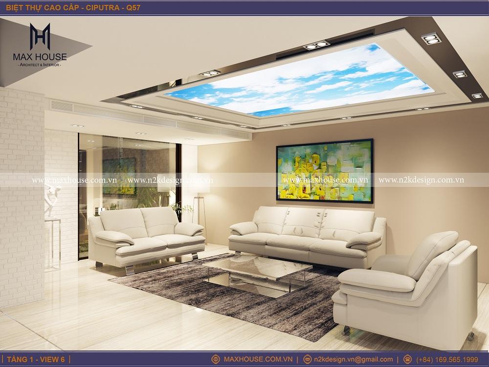 Sử dụng trần xuyên sáng có khả năng khuếch tán ánh sáng ngoài trời cũng như ánh sáng nhân tạo sẽ giúp cho luồng không khí trong nhà dễ chịu hơn cũng là một cách giúp cho ngôi nhà của bạn thêm thoáng trong mùa hè.