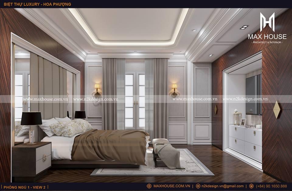 Cách bố trí hệ thống đèn chiếu sáng trên trần, tường hợp lý không mang đến cảm giác ánh sáng quá gắt. Khung cửa sổ nhỏ mang đến ánh sáng tự nhiên cho căn phòng.