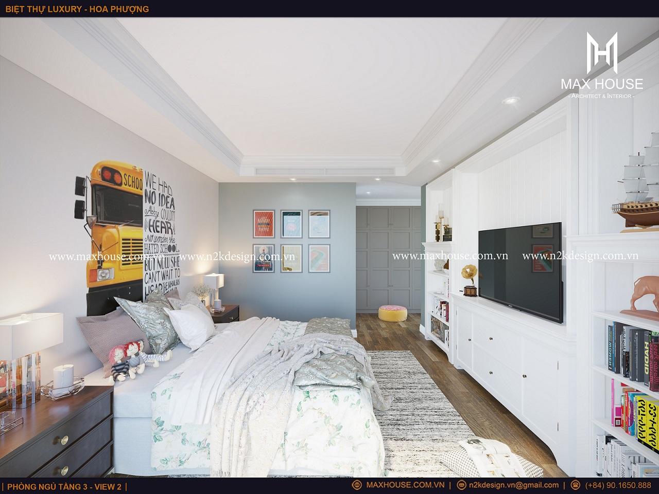 Vẻ đáng yêu của căn phòng sẽ giúp cho trẻ nhỏ luôn thoải mái và phát huy được trí tưởng tượng của mình.